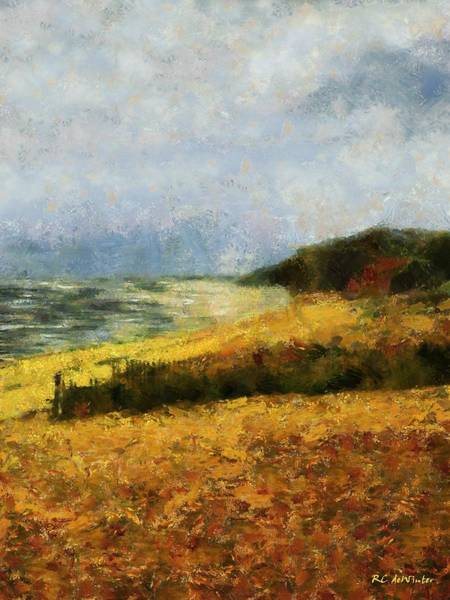 Painting - November Beach by RC DeWinter