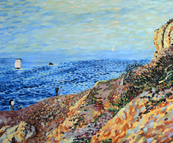Painting - November Day At Point Lobos San Francisco by Bonnie Follett