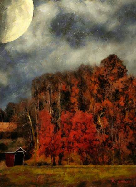 Painting - November Flame by RC DeWinter