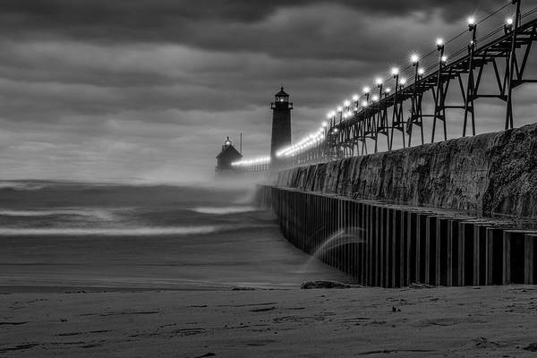 Photograph - November Gales In Grand Haven by Thomas Gaitley