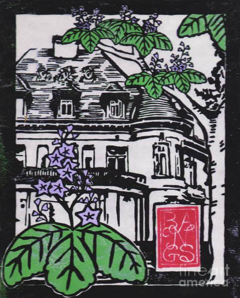 Mansion Mixed Media - November Kiri At Pittock Mansion by D Noelani Bangs