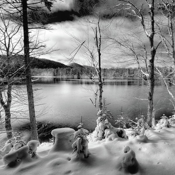 First Snowfall Wall Art - Photograph - November On West Lake by David Patterson
