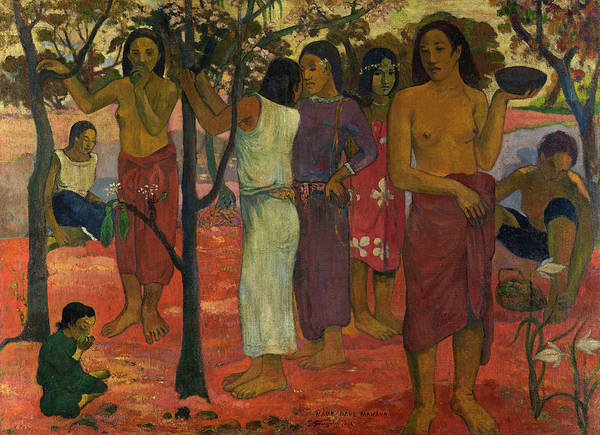 Tahiti Wall Art - Painting - November by Paul Gauguin