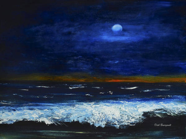 November Sunset At The Beach Art Print