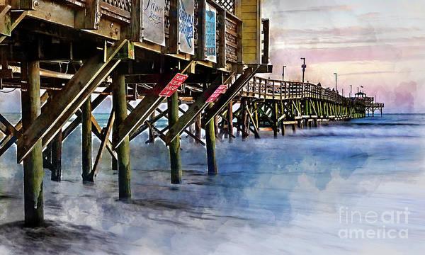 Digital Art - November Sunset Watercolor by David Smith