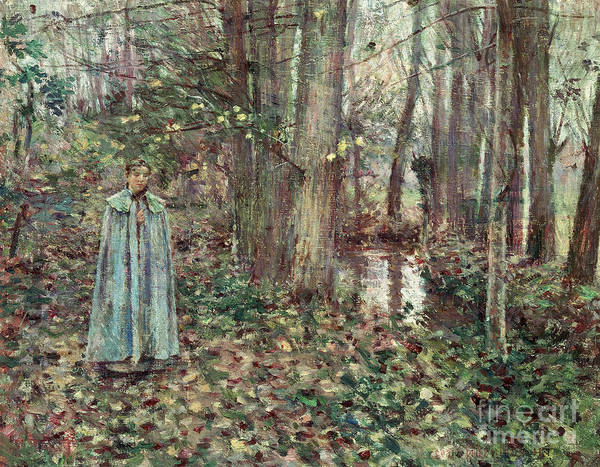 Thicket Wall Art - Painting - November by Theodore Robinson