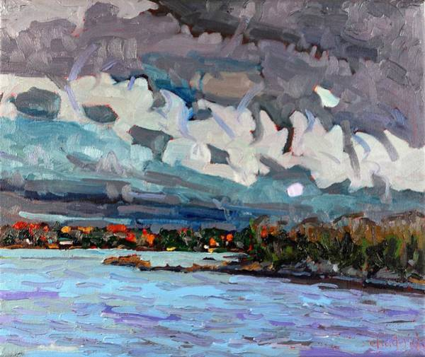 Stratocumulus Painting - November Virga by Phil Chadwick