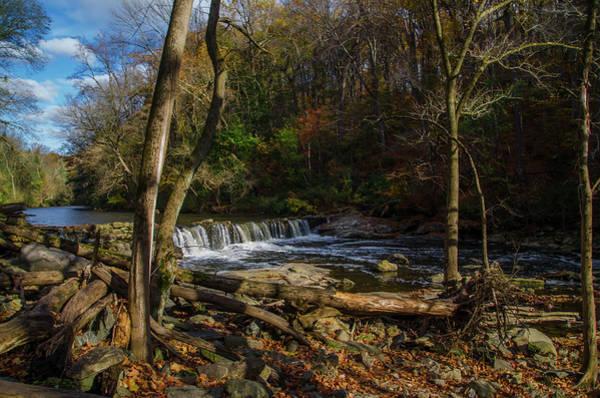 Photograph - November - Wissahickon Waterfall by Bill Cannon