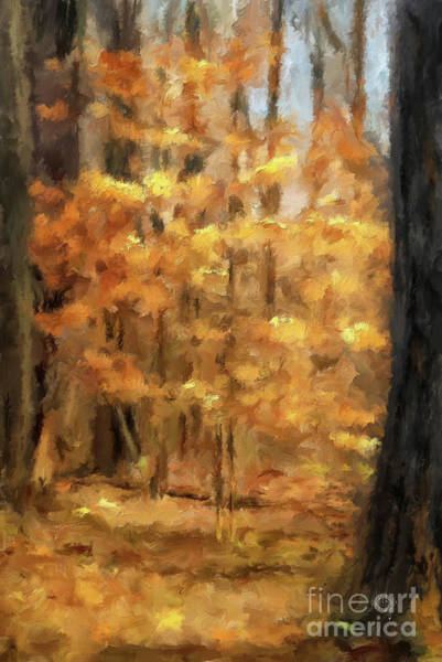 Digital Art - November's Gold by Lois Bryan