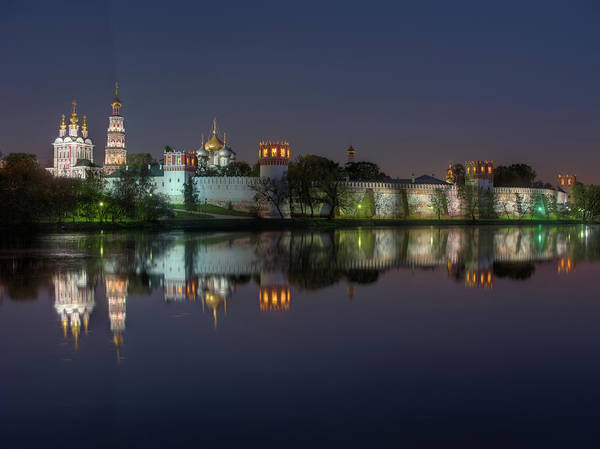 Photograph - Novodevichy Convent At Night by Alexey Kljatov