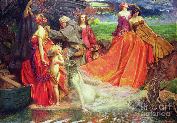 Wall Art - Painting - Now Is The Pilgrim Year Fair Autumn's Charge by John Byam Liston Shaw