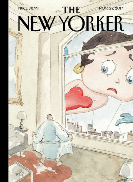 Cartoon Character Painting - Nowhere To Hide by Barry Blitt