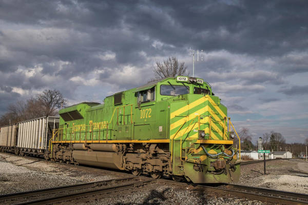 Norfolk Southern Wall Art - Photograph - Ns 1072 Heritage Unit Illinois Terminal At Oakland City In by Jim Pearson