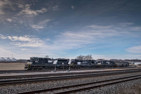 Norfolk Southern Railway Wall Art - Photograph - Ns 1073 Heritage Unit Penn Central At Princeton In by Jim Pearson