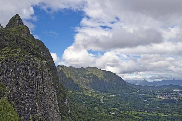 Wall Art - Photograph - Nu Uanu Pali Valley Overlook On Oahu Island Hawaii  by Brendan Reals