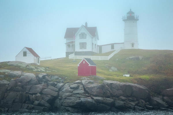 Wall Art - Photograph - Nubble In The Fog by Tom Weisbrook