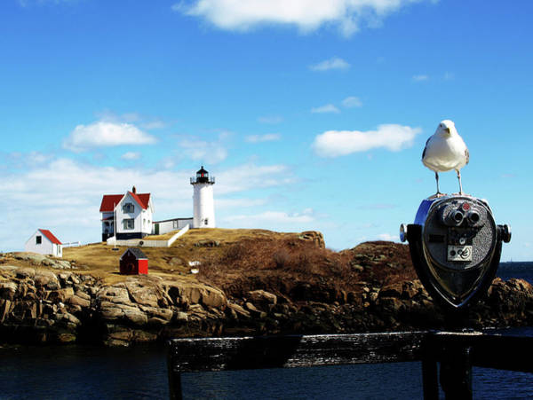 Nubble Light House Art Print