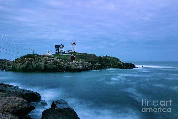 Wall Art - Photograph - Nubble Lighthouse Blue by John Greim