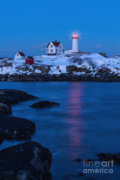 Photograph - Nubble Lighthouse In Winter by Sharon Seaward