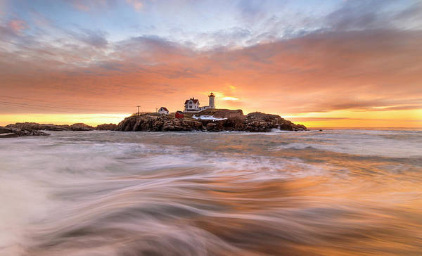 Photograph - Nubble Lighthouse by Rob Davies