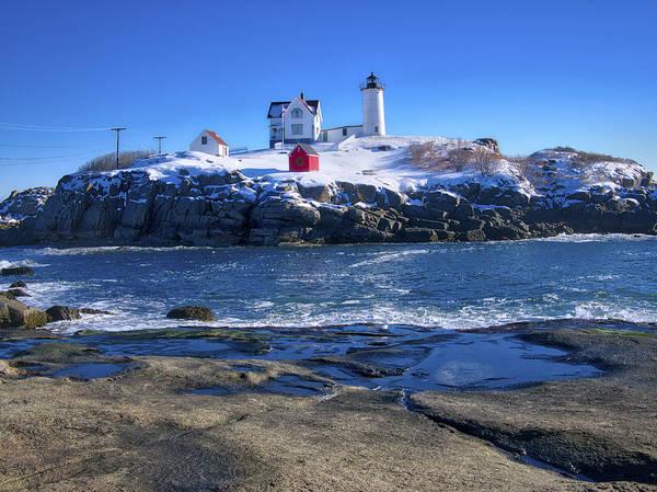 Photograph - Nubble Lighthouse -winter 2015 by Steven Ralser