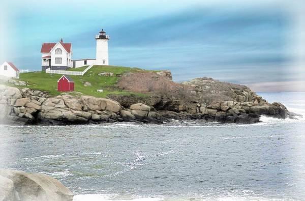 Digital Art - Nubble Lighthouse York Maine by Rusty R Smith
