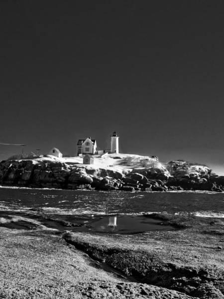 Photograph - Nubble Lighthouse - York - Maine by Steven Ralser