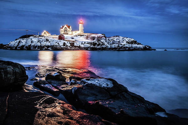 Photograph - Nubble Lights by Robert Clifford