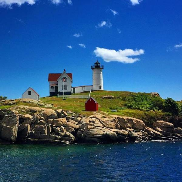 Wall Art - Photograph - #nubble #ligthouse #maine #usa by Luisa Azzolini