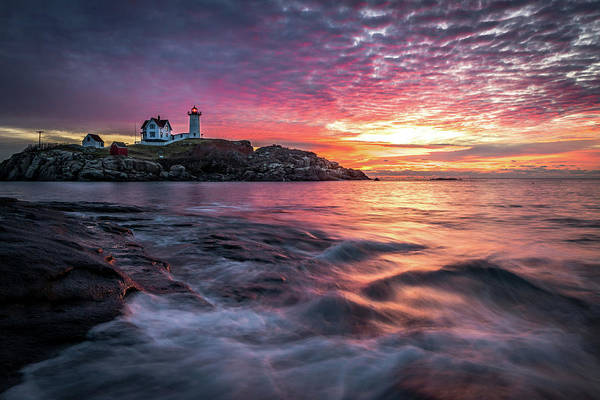 Photograph - Nubble Sunrise by Colin Chase