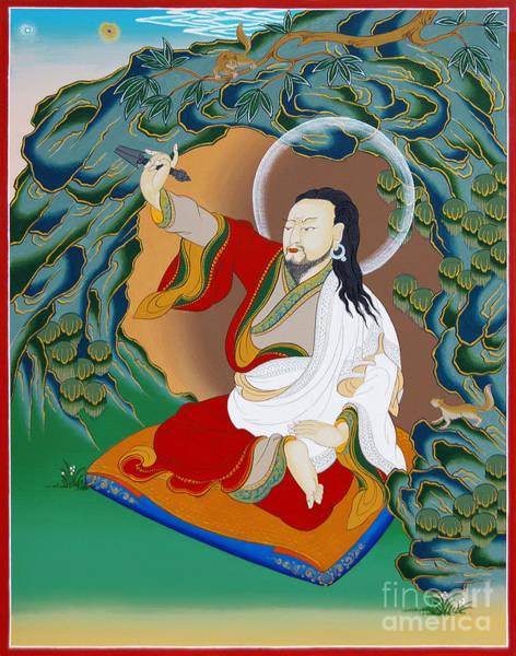 Thangka Painting - Nubchen Sangye Yeshe by Sergey Noskov