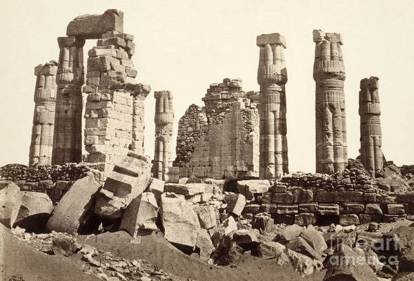 Photograph - Nubia, Soleb, 1857.  by Granger