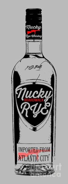 Atlantic Digital Art - Nucky Thompson Boardwalk Rye Whiskey Tee by Edward Fielding