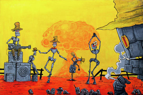 Wall Art - Painting - Nuclear Dance by Chase Fleischman