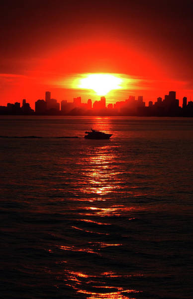 Nuclear Miami Sunset Art Print