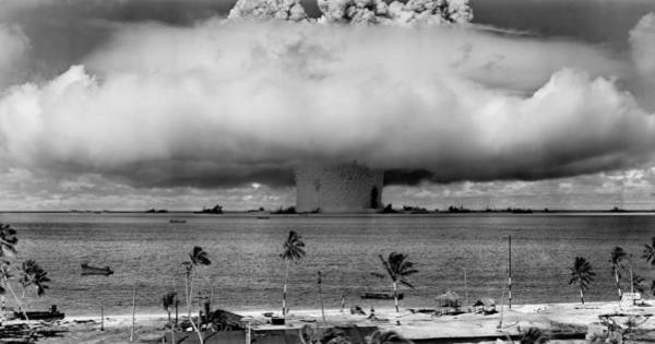 Nuclear Bomb Wall Art - Photograph - Nuclear Weapon Test - Bikini Atoll by War Is Hell Store