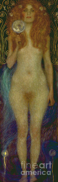 Wall Art - Painting - Nuda Veritas Naked Truth by Gustav Klimt