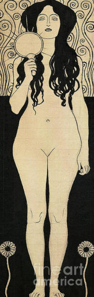 Wall Art - Drawing - Nuda Veritas Or Naked Truth, 1898 by Gustav Klimt