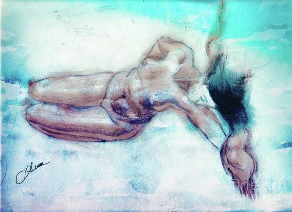 Wall Art - Pastel - Nude 01 -v2a2c2 by Variance Collections