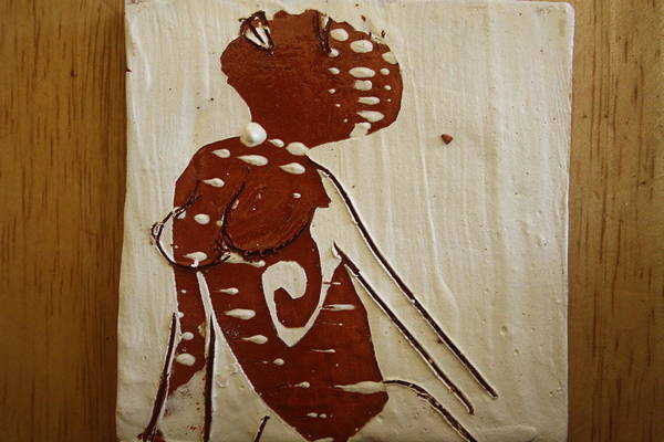 Ceramic Art - Nude 13 - Tile by Gloria Ssali