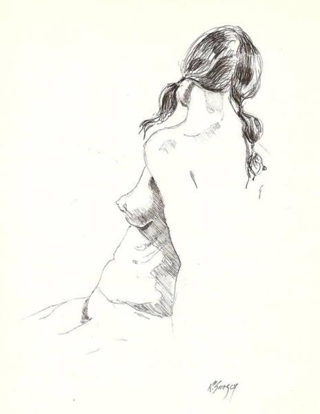 Nude 9 Art Print