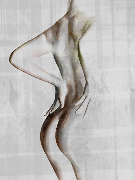 Sliver Photograph - Nude Abstract Greys 2 by Naman Imagery