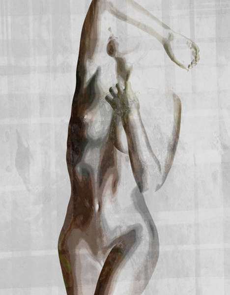 Sliver Photograph - Nude Abstract Greys by Naman Imagery