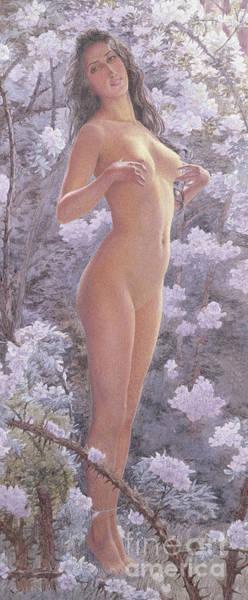 Wall Art - Painting - Nude Amongst Flowers by Carlos Schwabe