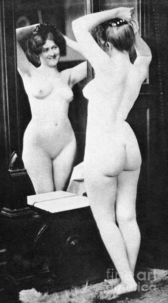 Painting - Nude And Mirror, 1902 by Granger