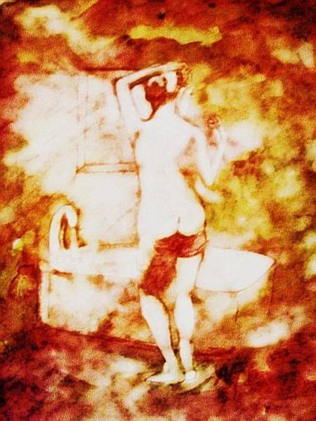 Painting - Nude At The Bath by Andrew Gillette