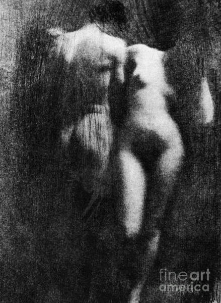 Photograph - Nude Couple, 1910 by Granger