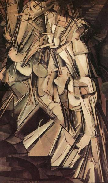 Painting - Nude Descending A Staircase Number Two by Marcel Duchamp