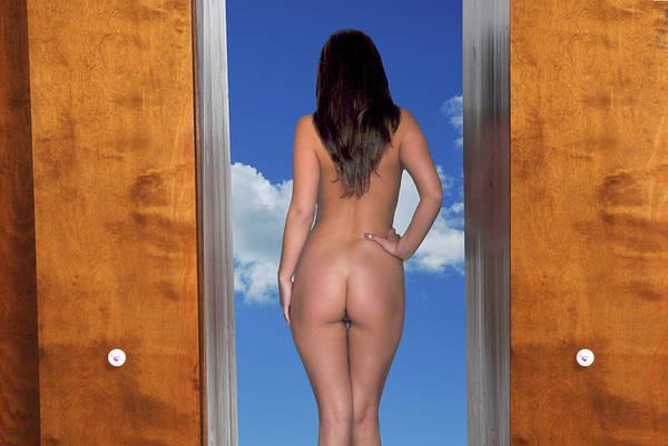 Nude Doorway Art Print