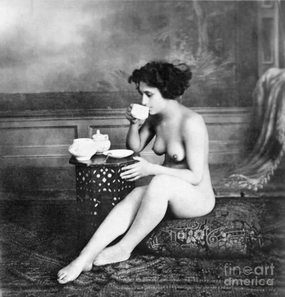 Aod Painting - Nude Drinking Tea, 19th Ct by Granger